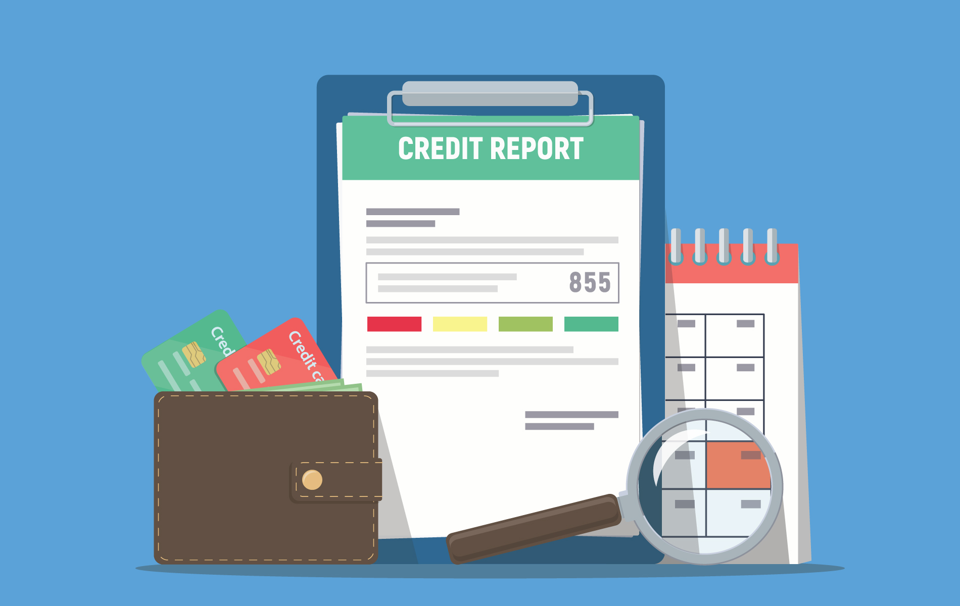 What is a credit score and how is it calculated?